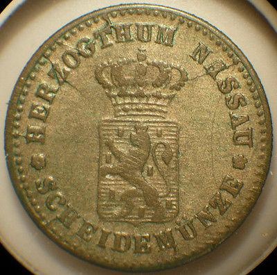 Nassau (GERMAN STATES) 1861 silver Kreuzer