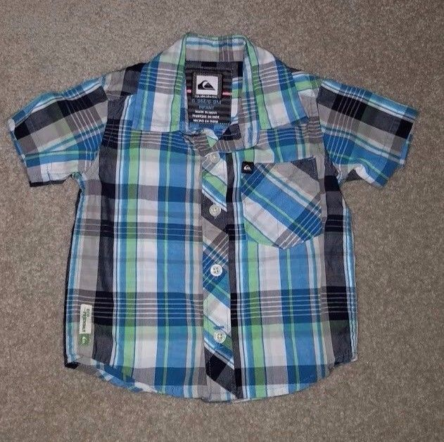Quiksilver Plaid Collared Shirt, 100% Cotton, Infant 6-9m
