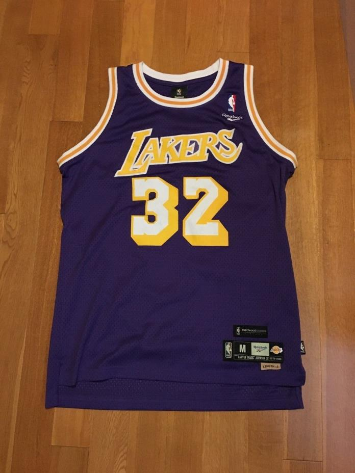 NBA Lakers Magic Johnson Swingman Hardwood Classics Medium Jersey Bryant