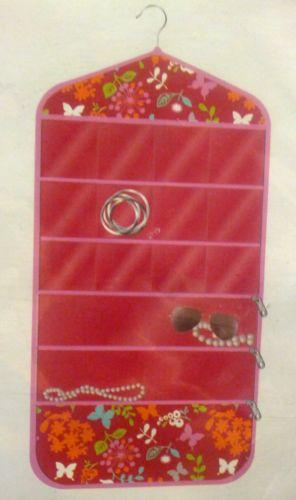 Jewelry Organizer 15 Pocket Hanging Garden Girl Design 17.5