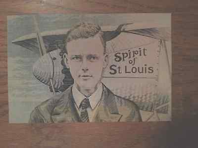 Charles Lindbergh postcard 1994