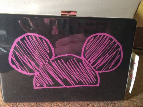 Disney Parks Runway Mickey Mouse Hard Clutch Purse