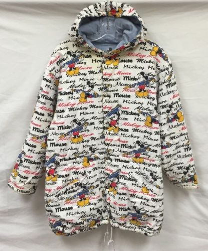 Vintage Disney Mickey Mouse All Over Print Insulated Reversible Jacket