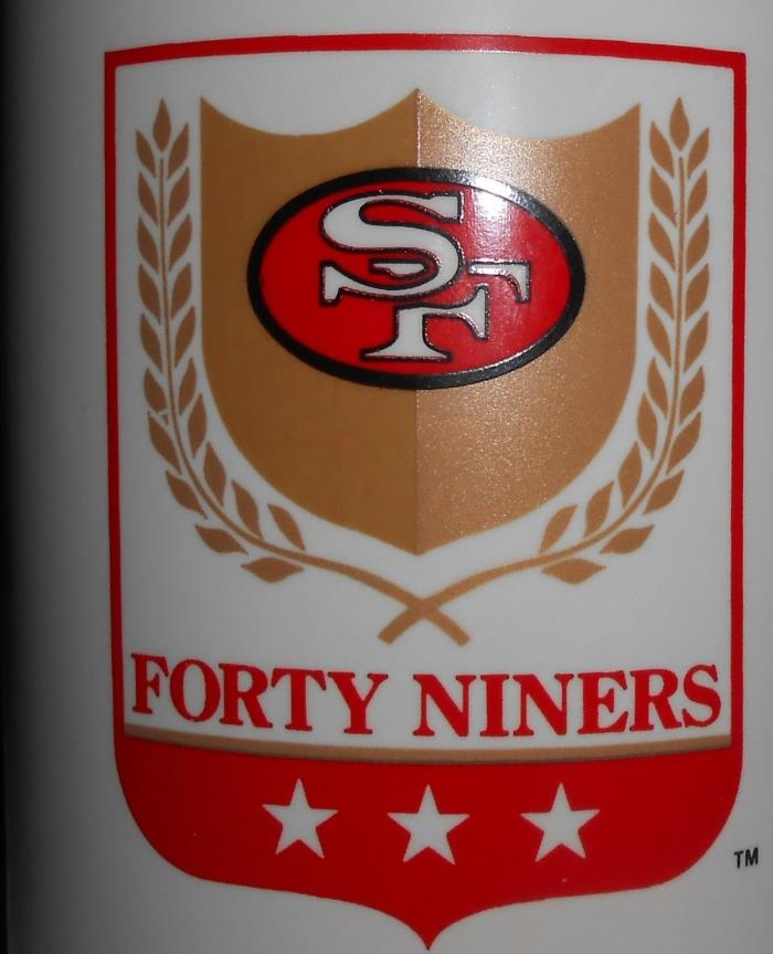SAN FRANCISCO 49ERS LARGE CERAMIC LOGO MUG