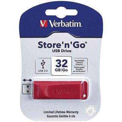 VERBATIM 96806 Store n Go USB Flash Drive, Red (32GB)
