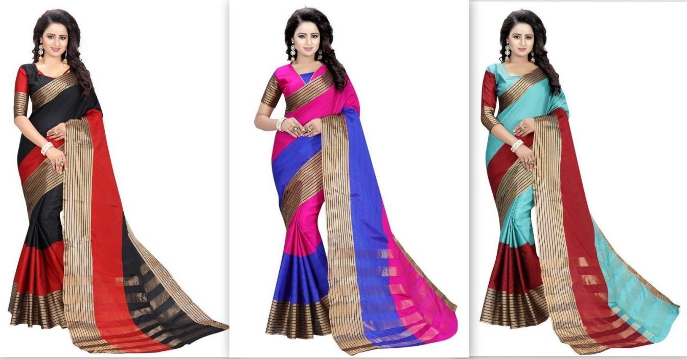 Indian Sari Designer Saree Pakistani Bollywood traditional FASHION COLOR 5