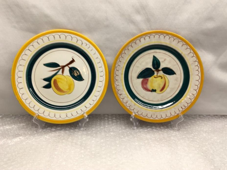 Stangl Fruit Vintage 8 inch Salad Plates Set of 2