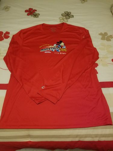 Run Disney WDW Marathon 2016 Race Tech Shirt Mens L