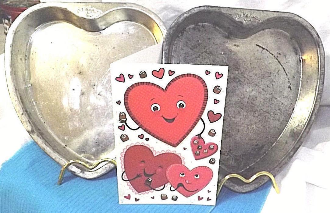 Bake King Heart Shaped Cake Pans - Set of 2 - Happy Valentines