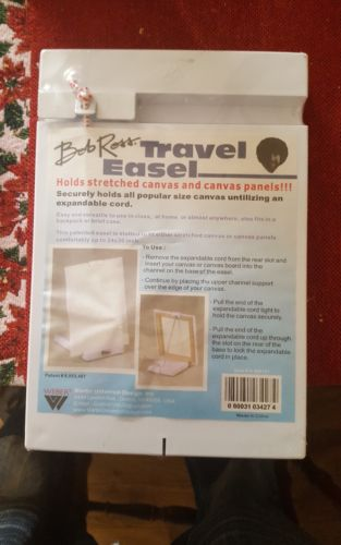 Bob Ross Painting Travel Easel Portable, holds small & large canvas ~ Metal