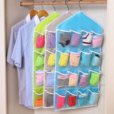 US Home Decor 16 Pockets Wall Door Closet Hanging Storage Bag Organizer Hanger