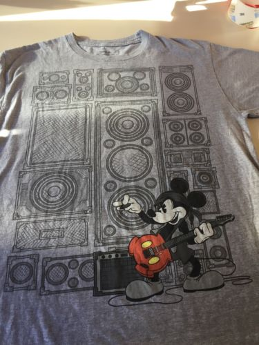 Disney Land Mickey Mouse Rockstar playing guitar t-shirt medium M 18