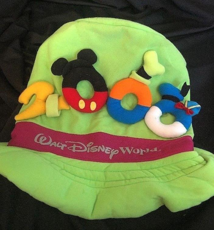 Walt Disney World Goofy 2000 Hat Lime Green Free Shipping