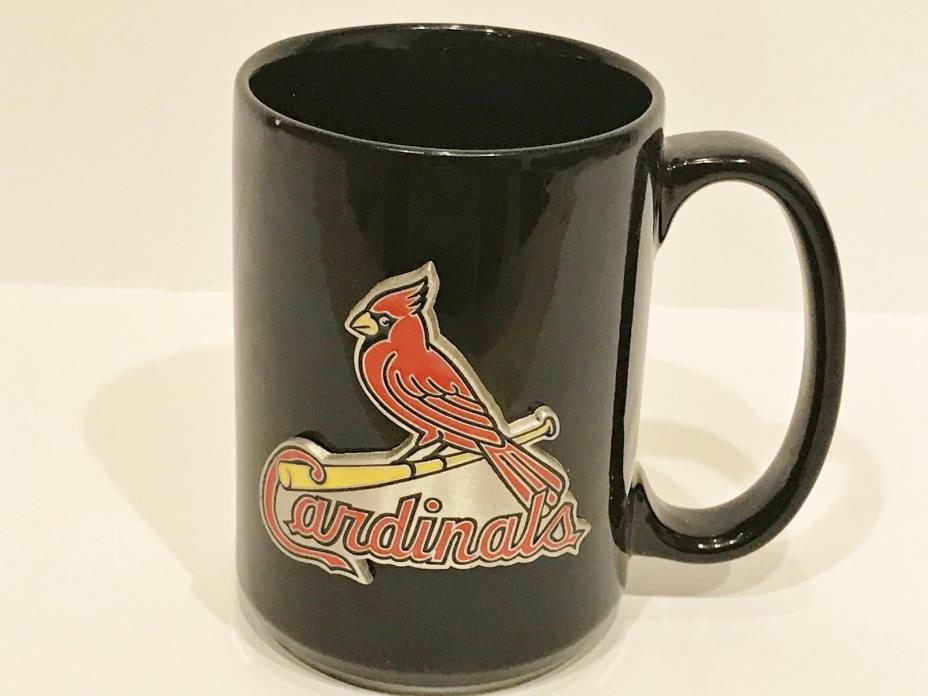 St. Louis Baseball Cardinals Black Figural Raised Logo Coffee Mug