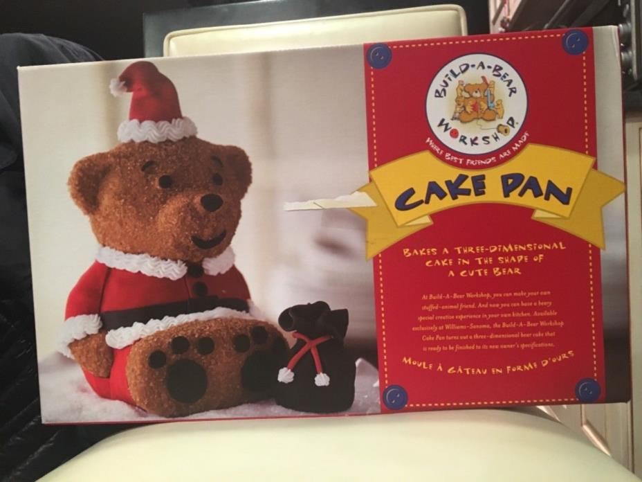 Brand New Build a Bear Cake Pan Build a 3D cake in the shape of a bear