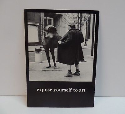 UNUSED 1979 VINTAGE POSTCARD EXPOSE YOURSELF TO ART MIKE RYERSON