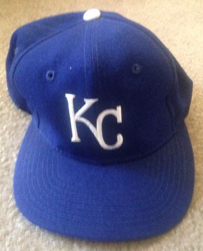 Vintage MLB Kansas City Royals Sports Specialties Plain Logo Wool  Snapback Hat