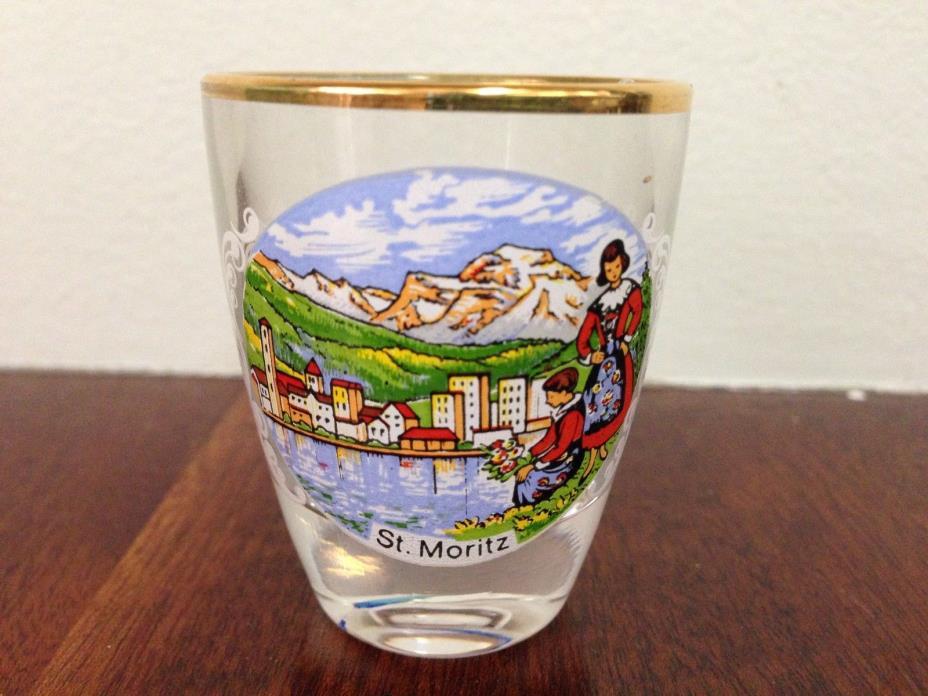Shot Glass From St. Moritz, Switzerland