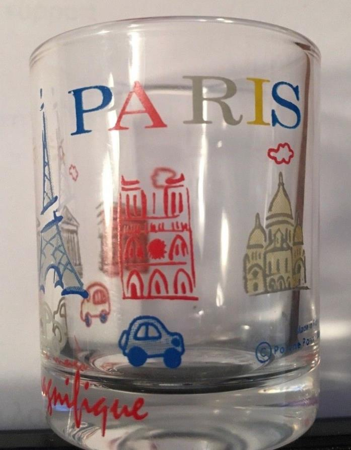 PARIS FRANCE SHOT GLASS MARKED FRANCE ON BOTTOM 5 LANDMARKS EUC