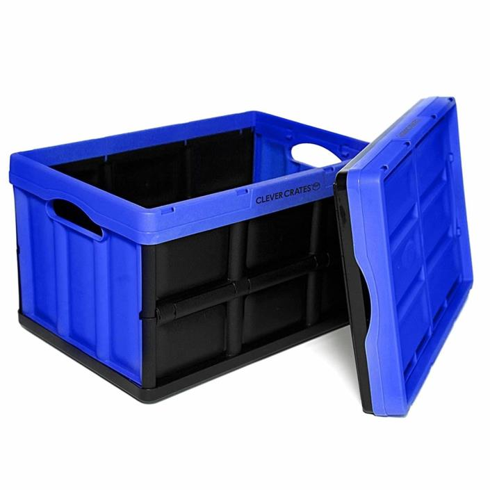 CleverMade CleverCrates 46 Liter Collapsible Storage Bin/Container: Solid Wall