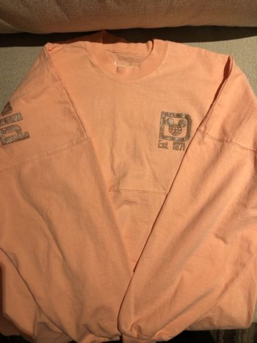 NWT Disney Parks Walt Disney World Rose Gold Spirit Jersey Size S