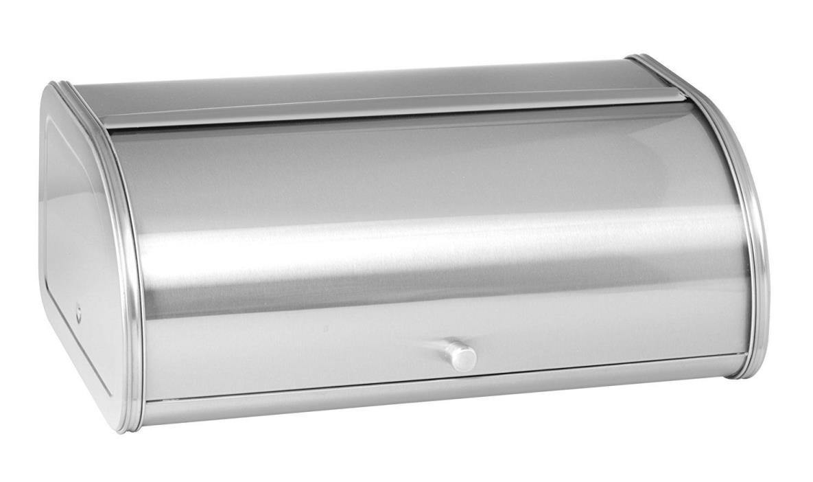 Anchor Hocking 98949 Steel Bread Box, Brushed Steel