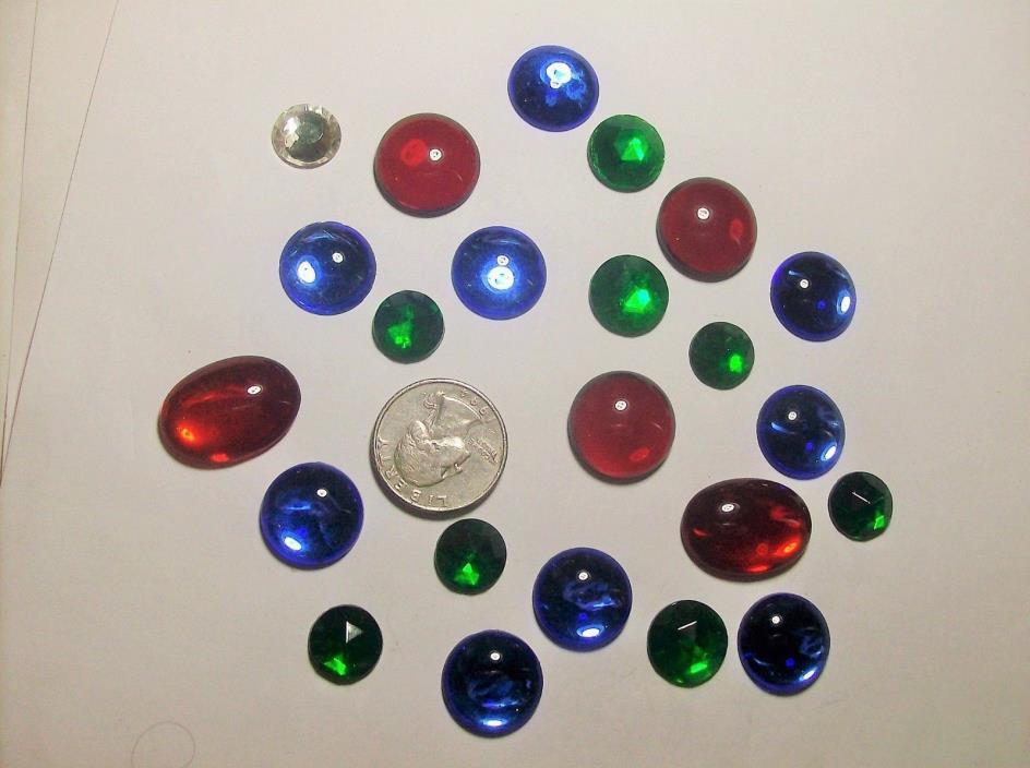 ASSORTED GLASS RHINESTONES----30,s---#7--VINTAGE