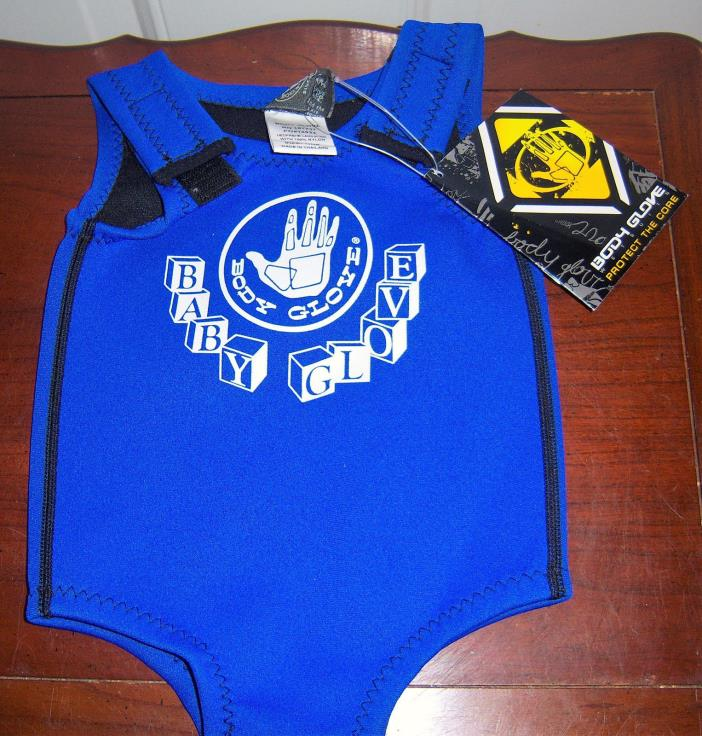 NEW BABY GLOVE SIZE INFANT BODY GLOVE WETSUIT ROYAL BLUE 12-24 MONTHS