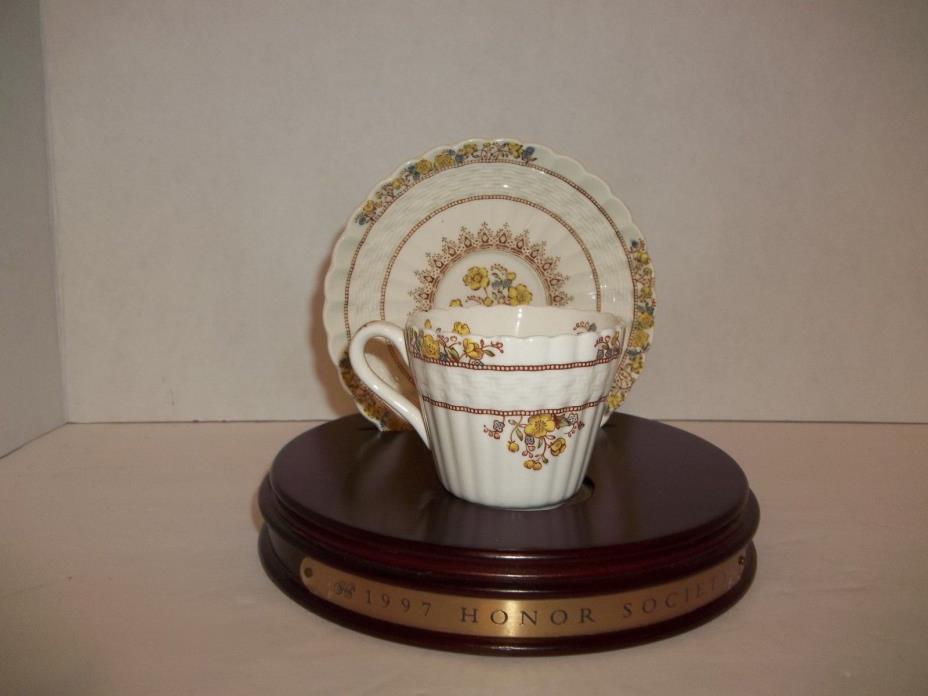 Vintage Spode England Buttercup Demitasse Cup & Saucer 1895 Design