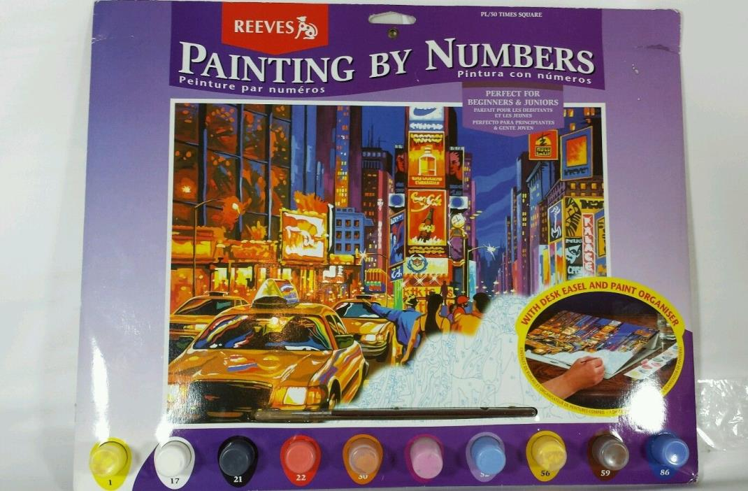 Reeve's Painting By Numbers Kit PL/50 Times Square NEW 2001 Art Craft