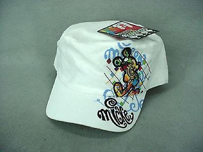 Mickey Mouse White Graphic Edge Military Painters Cap NEW