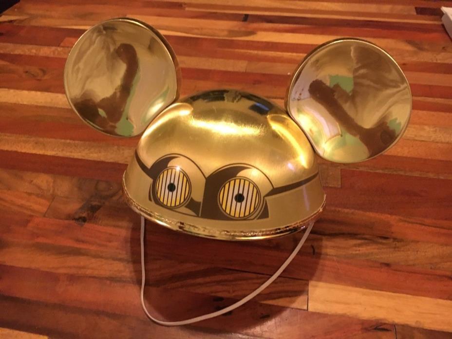 Disney C3PO Mickey Mouse Ears Hat Star Wars Tours Disney Parks World Adult 56CM