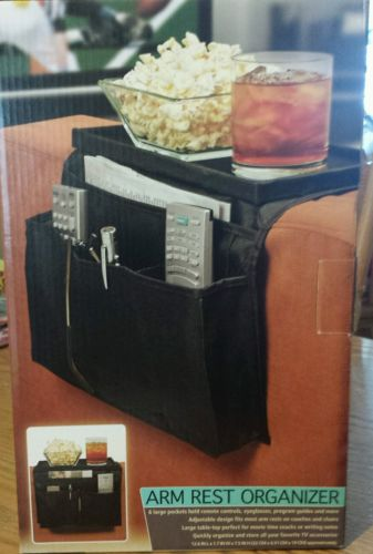 New in Pkg : 6 Pocket Arm Rest Organizer with Table Top