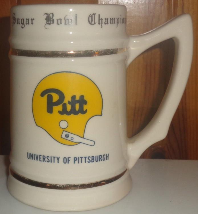 Pitt Panthers Sugar Bowl Undefeated 1977 Champion Ceramic Stein