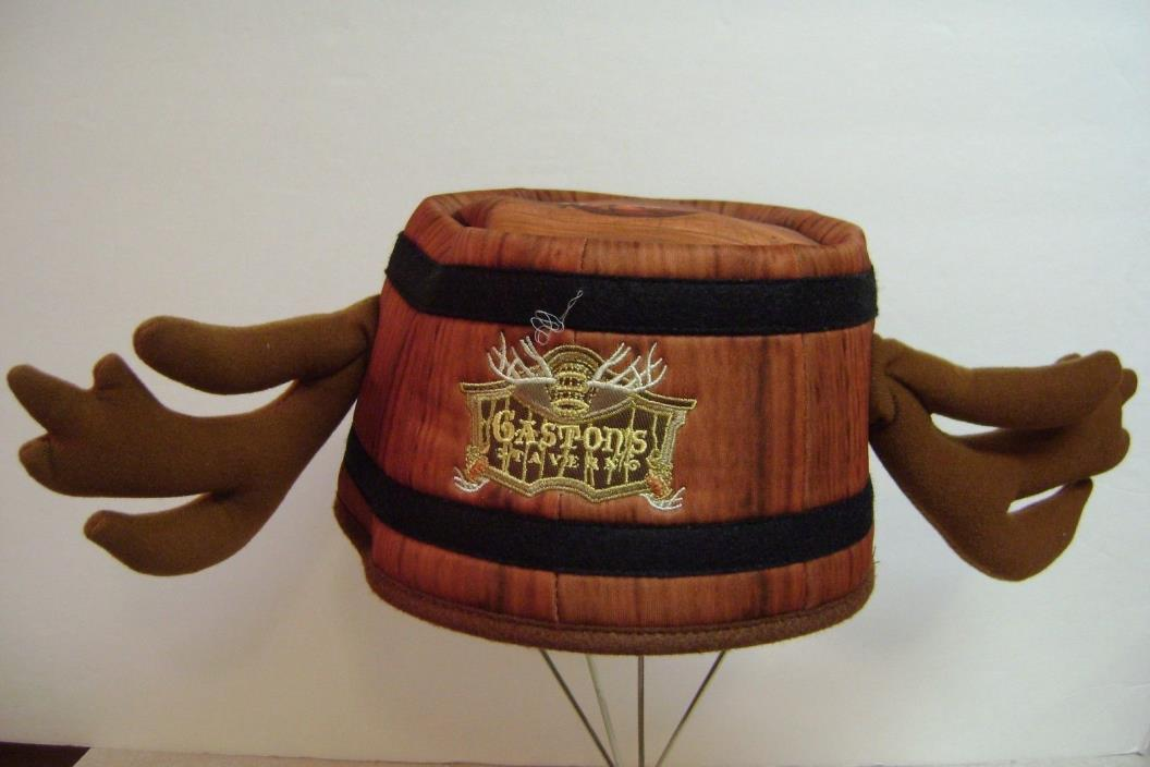 DISNEY PARKS~GASTON'S TAVERN BARREL ANTLER HAT~BEAUTY AND THE BEAST~NWT