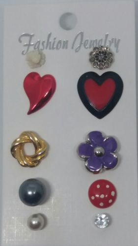 Post-back Stud Pierced SINGLE EARRING Mixed Lot #A761