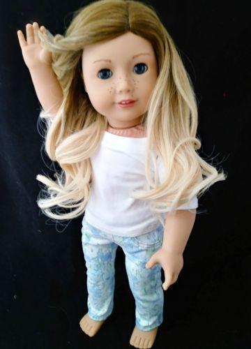Blondie Brownie Swirl 10-11 wig for American Girl Dolls