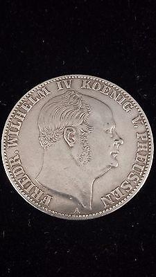 1859-A German States Prussia Silver Coin Friedr. Wilhelm IV Ein Vereinthaler