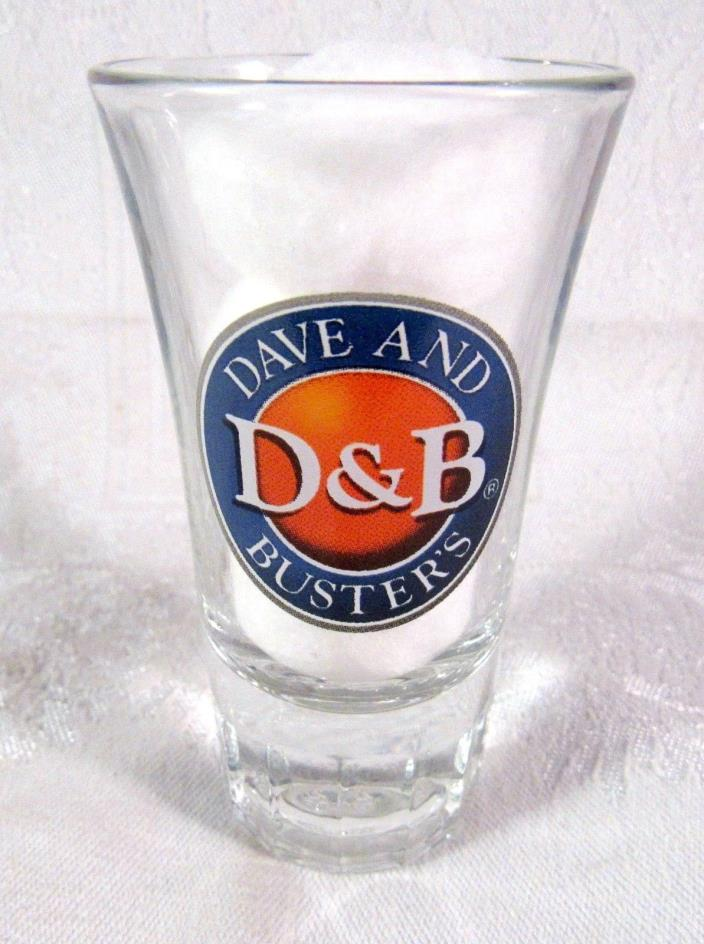 Dave and Buster's D@B Tulip Shooter/Shot Glass Beveled Glass