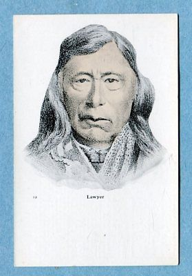 A6824  Postcard   Picture of Lawyer,  Man in Blanket