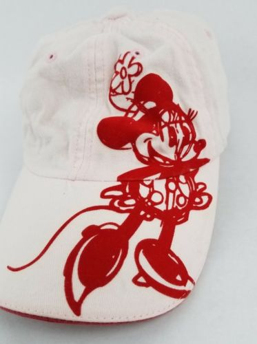 DISNEY PARKS RESORT MINNIE MOUSE PINK ADULT  ADJUSTABLE BASEBALL HAT CAP