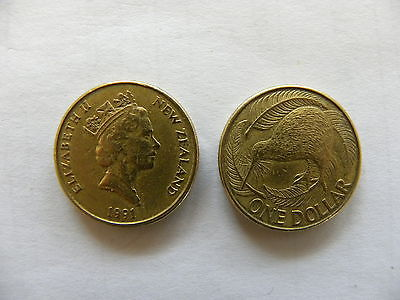 1 Dollar - coin - New Zealand  - 1991 - Circulated