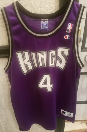 RARE VTG 90s NBA Champion Sacramento Kings Chris Webber 4 Jersey 44
