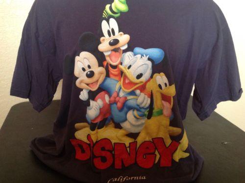 Disneyland T Shirt Mickey Goofy Pluto Donald XL