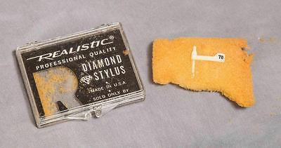 Vintage Realistic Diamond Stylus Needle Plastic Box Case egm