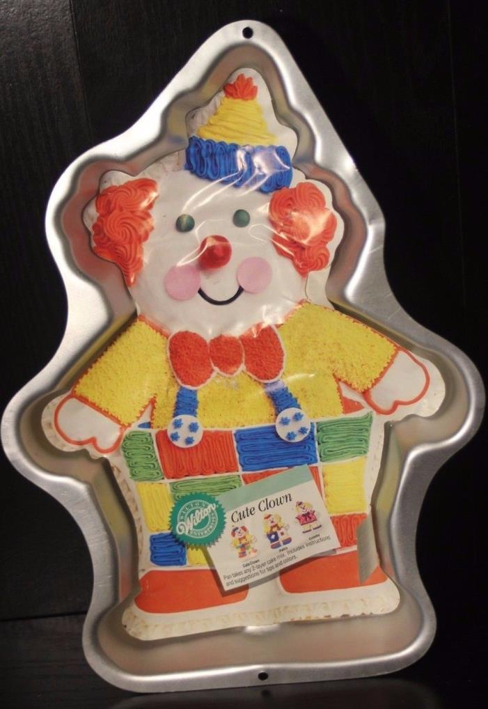 Wilton Cute Clown Vintage 1993 Retired Cake Pan 2015-6711 New