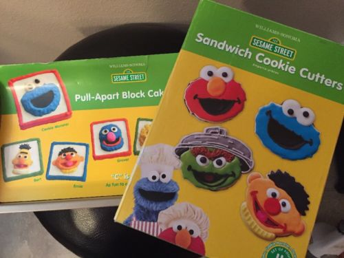 Williams Sonoma Sesame Street Pull Apart Block Cake Pan and Cookie Cutters