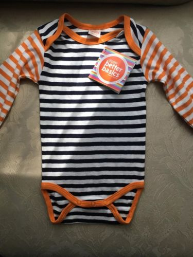 NWT Giggle Better Basics Organic Cotton Long Sleeve Bodysuit Ships Free