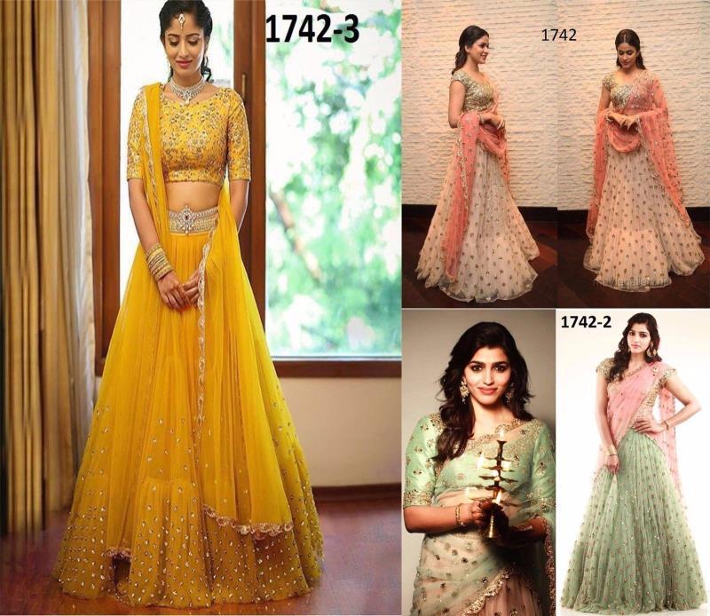 Bollywood Designer Lehengha Choli Indian Pakistani Wedding Party Wear Suit 1742