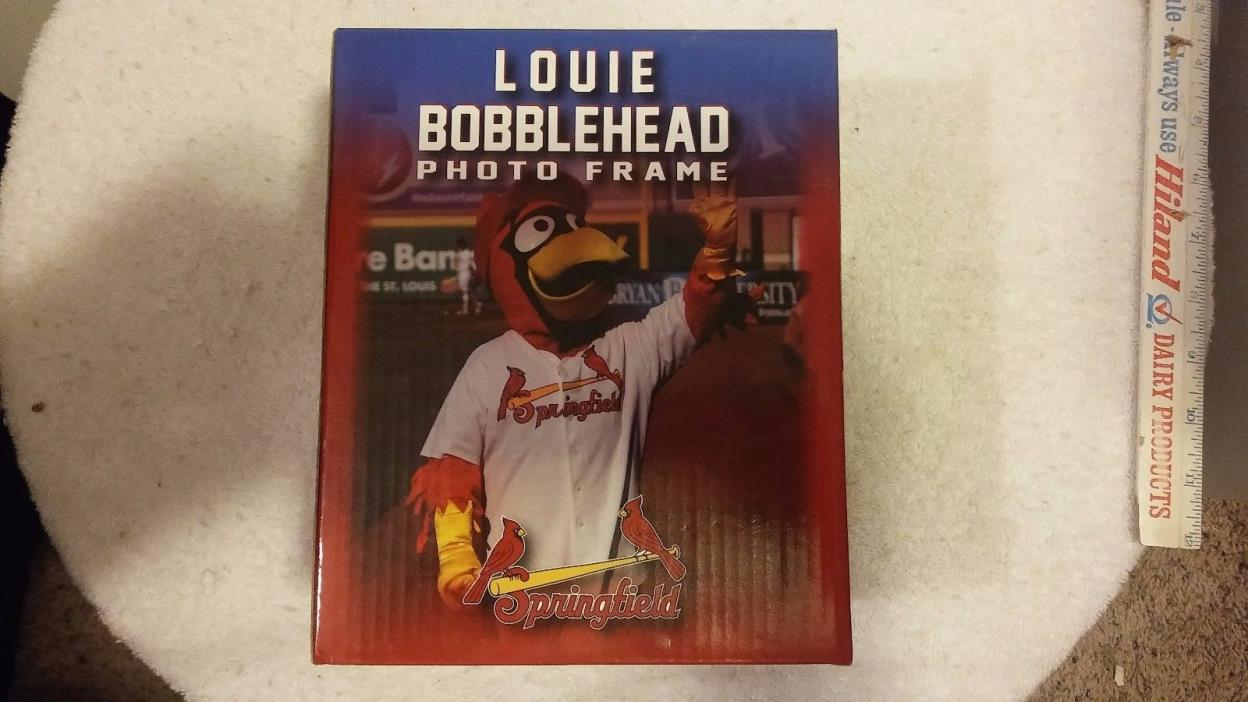 2014 St Louis Springfield Cardinals Louie Bobblehead Photo Frame